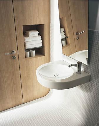 Inbyggd förvaring i badrum