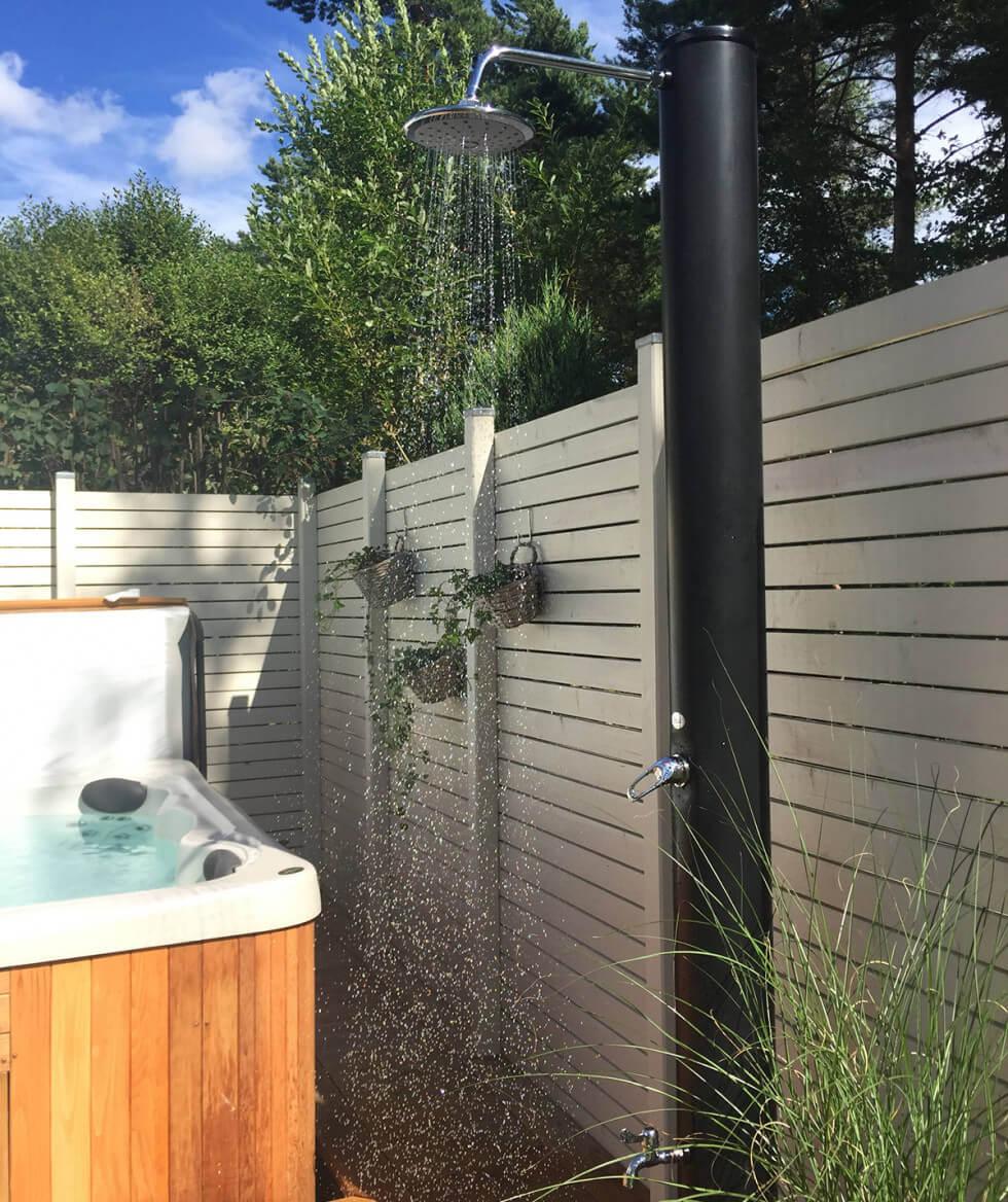 Dusch vid spabad