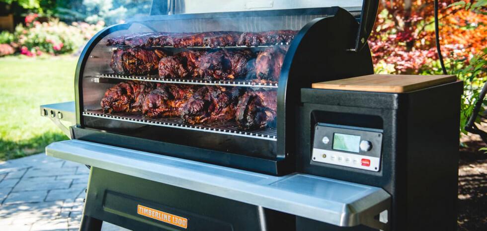 Pelletseldad grill