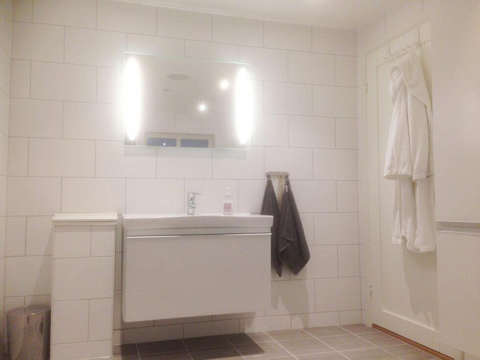Tvättnedkast i badrum