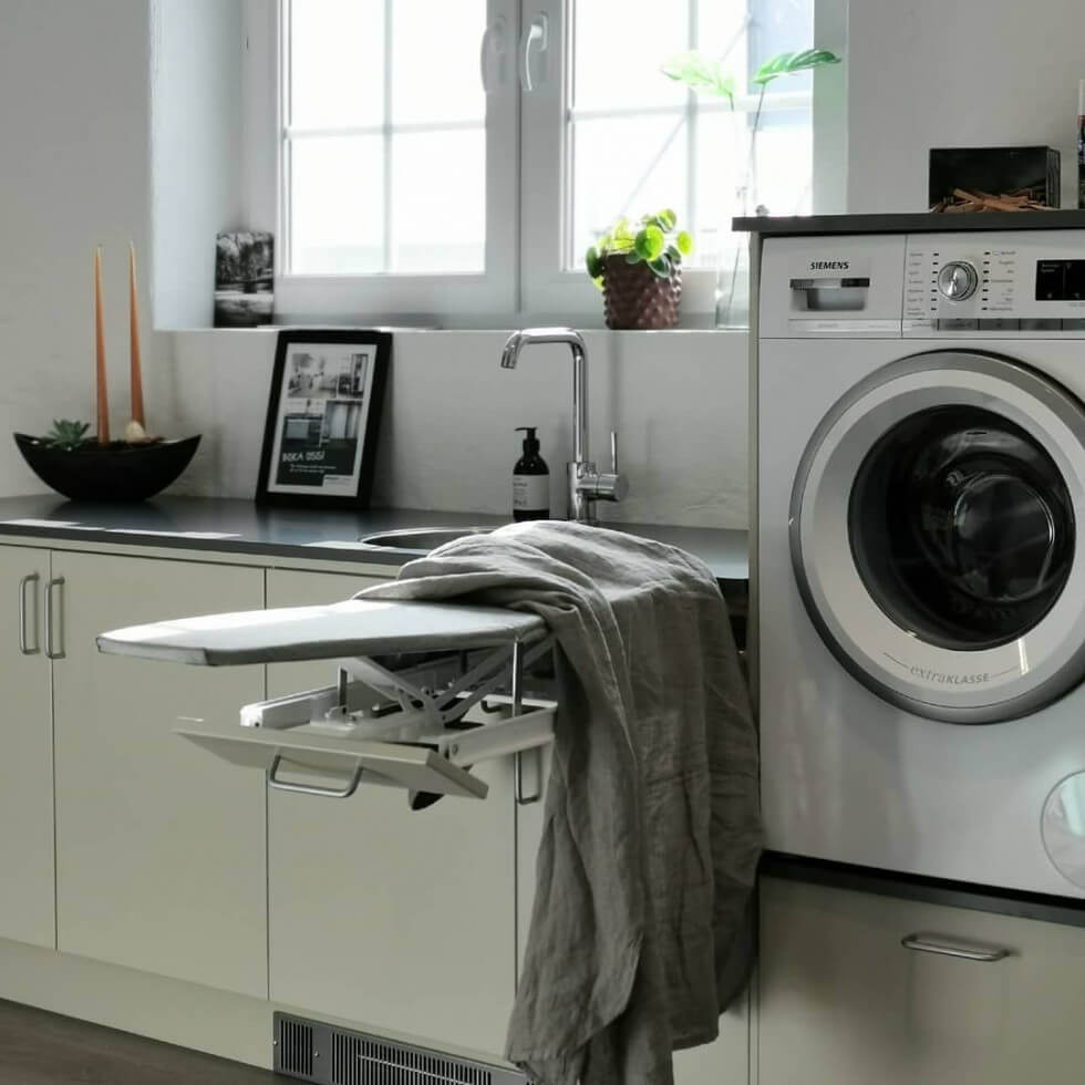 Upphöjd tvättmaskin