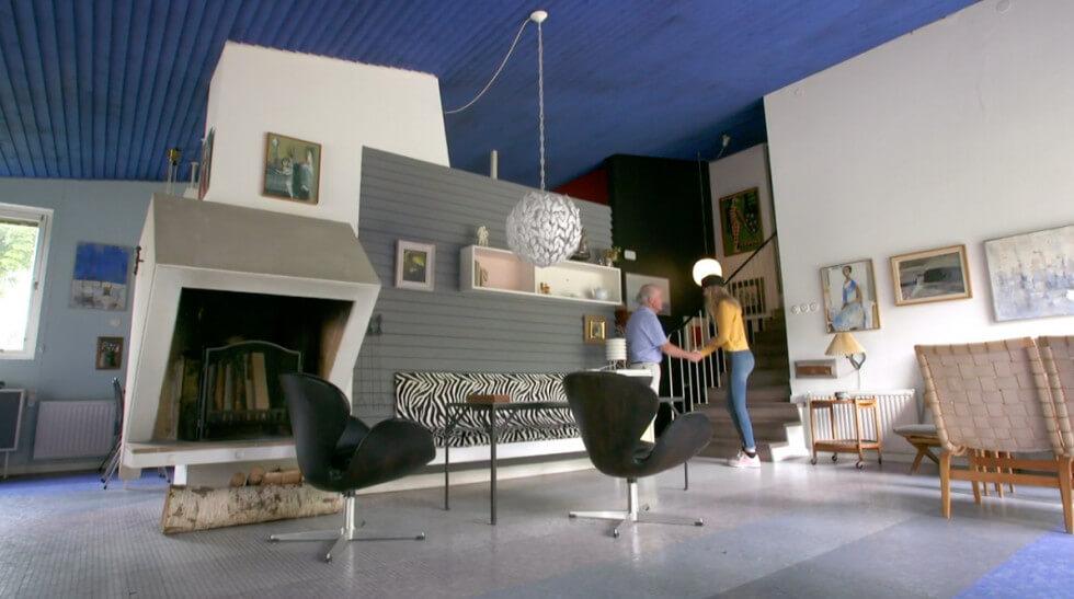 Vackert vardagsrum 50-tal
