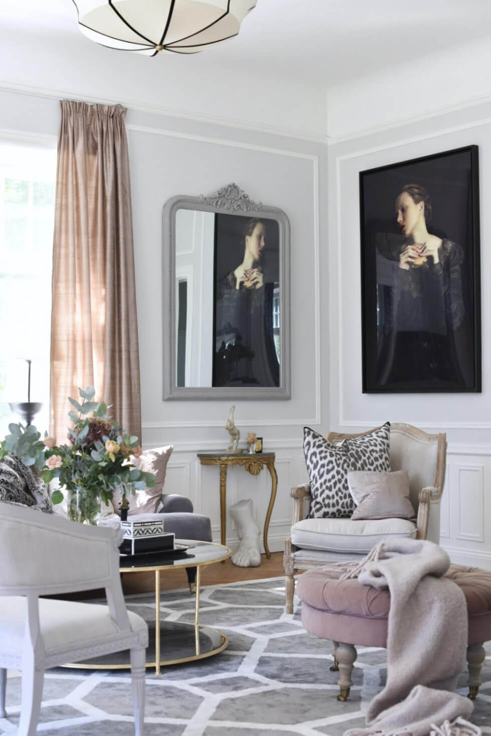 Vardagsrum stylat och fotat av Sofia Tretow.