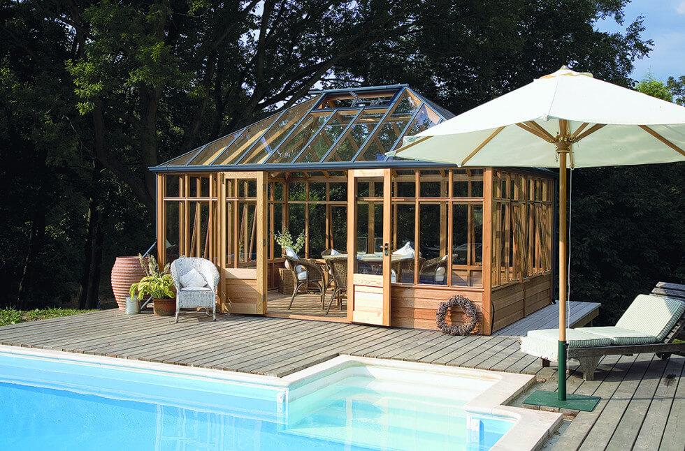 Växthus på trädäck kan fungera som uterum.
