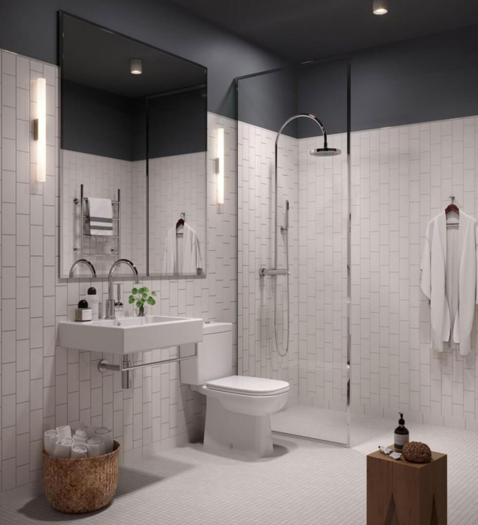 Vitt badrum från Oscar properties