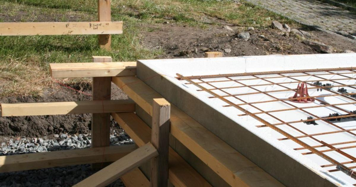 tjocklek betongplatta på mark
