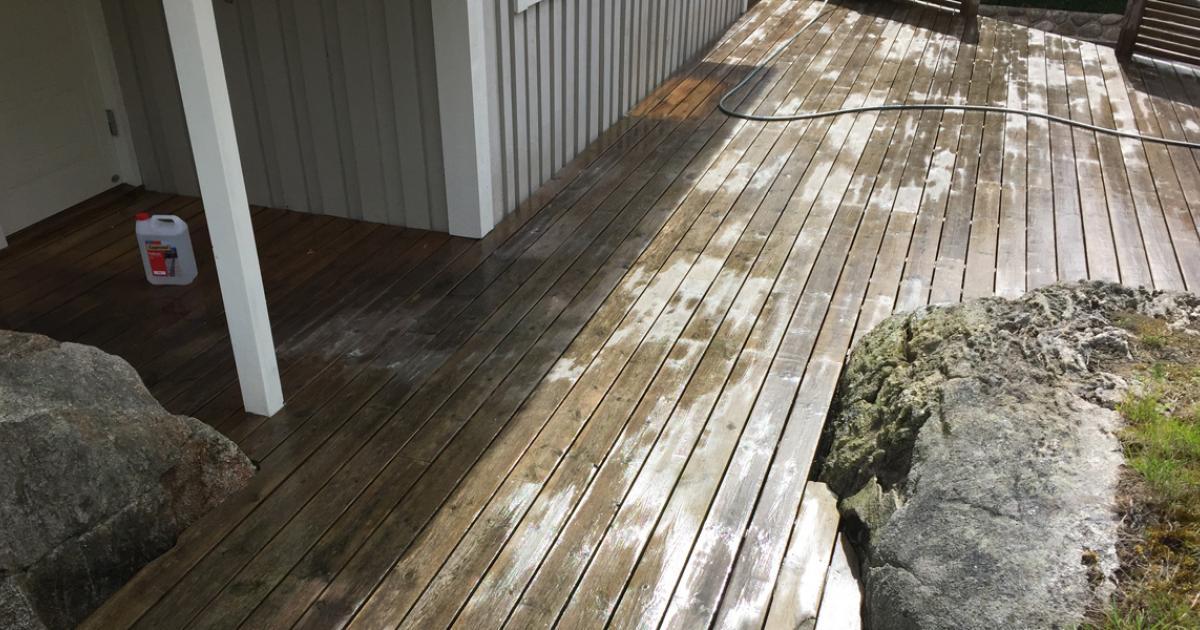 Tvätta altan och trädäck på rätt sätt | Byggahus.se