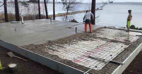 gjuta betongplatta själv