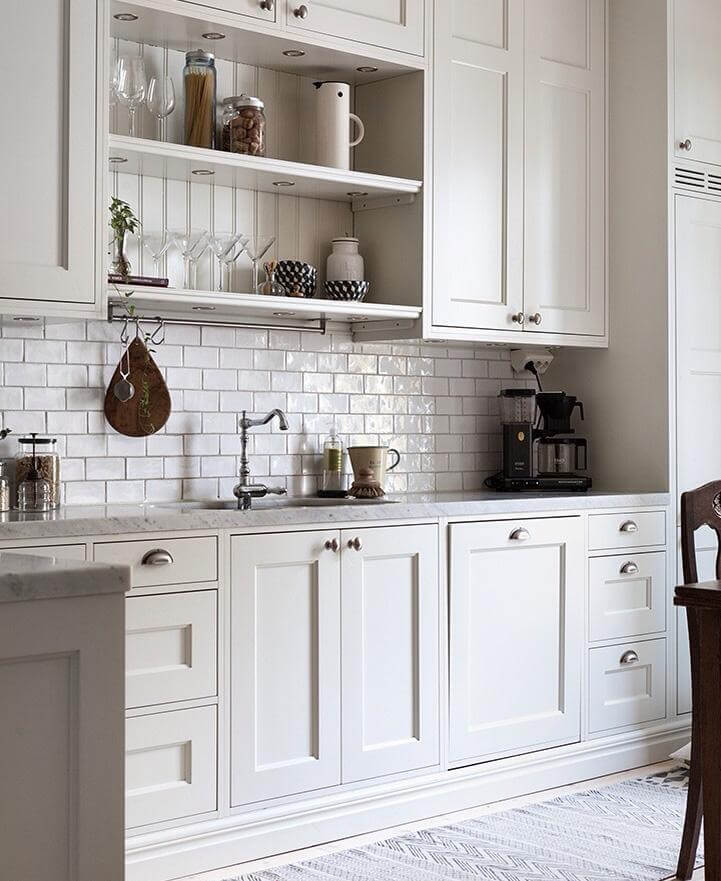 73 Best Antique White Kitchens Images On Pinterest: Stänkskydd Till Köket