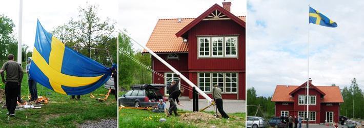 flaggstång längd hus