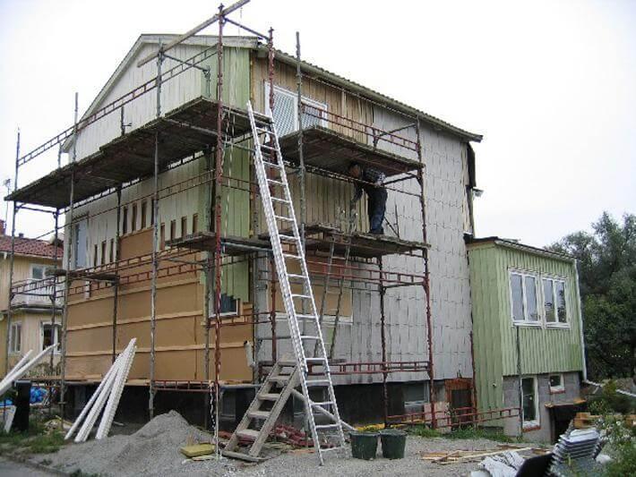byta fasad kostnad