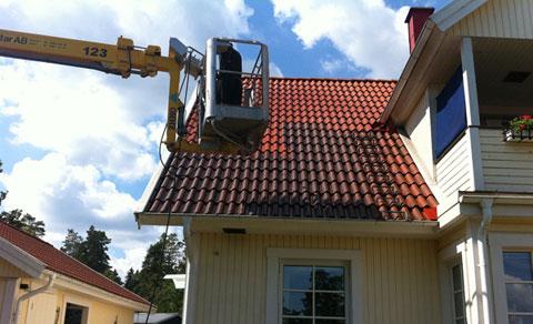 spola taket med högtryck