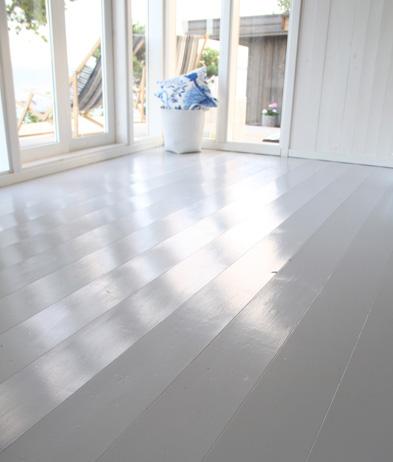 slipa målat golv